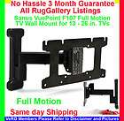 Sanus VuePoint F107 Full Motion TV Wall Mount LCD Flat Screen Monitor