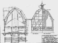 Architectural Antique Drawings Drafting Barn Farm Plans