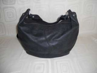 Lucky Brand Large Black Leather Hobo Shoulder Bag Crossbody Handbag