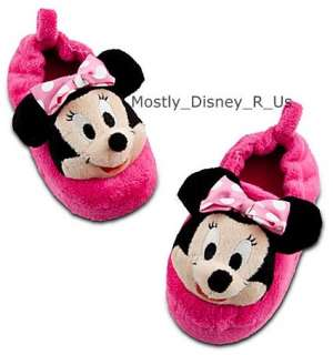 Minnie Mouse Girls Plush Slippers NEW NWT