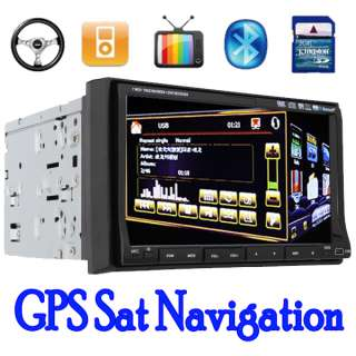 Double Din 7In Dash Car DVD Player Radio Ipod TV Stereo GPS