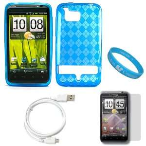 Screen Protector + White Micro USB Data Cable Cord + SumacLife TM