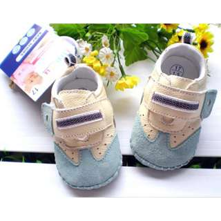 New Infant Baby Boys Leather Soft Sole Velcro Walking Shoes 3 18