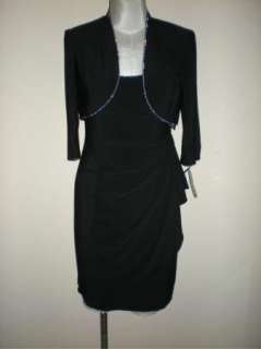 NWT ALEX EVENINGS RHINESTONE TRIM DRESS & JACKET 4P
