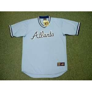 ATLANTA BRAVES 1980s Majestic Cooperstown Throwback Away