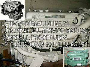INLINE Service Manual ENGINE MOTOR overhaul procedures 900pgs
