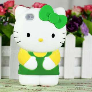 Cute Silicone Hello Kitty Case Cover Skin For iPhone 4 G 4G 4S