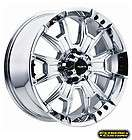 20 x9 904 Ballistic Off Road Havoc Chrome 5 6 8 Lugs Wheels Rims FREE