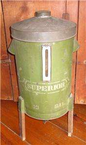 Original Antique Green Painted Tin Superior Cream Separator
