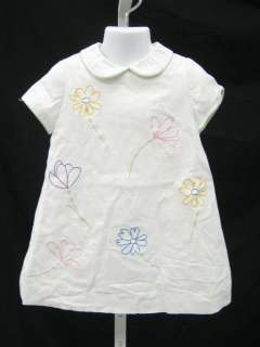 FLORENCE EISEMAN Girls Embroidered Floral Dress Sz 3T