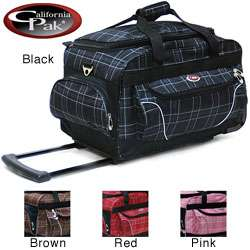 CalPak Champ Plaid 21 Inch Carry On Rolling Duffel Bag