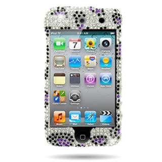 Purple Leopard Bling Case   Apple iPod Touch 4G iTouch