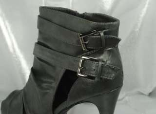 Anne Michelle GIOVANNI 87 Peep Toe Platform Ankle Boot