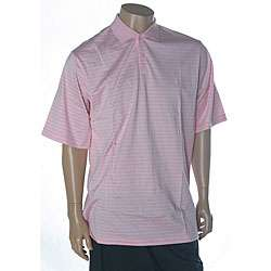 Ralph Lauren Mens Striped Pink Golf Polo Shirt
