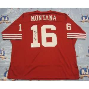 JOE MONTANA San Francisco 49ers SIGNED Football JERSEY