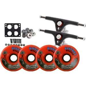 com Paris 180 Black LONGBOARD TRUCKS BIGFOOT 76mm 83a CRUSHER Wheels