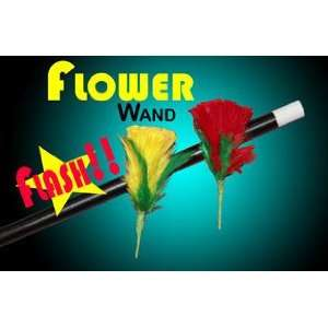 Flash Flower Wand   Flower Magic Trick Toys & Games