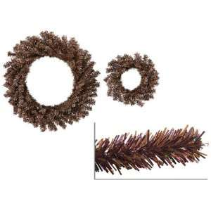 Brown Tinsel Artificial Christmas Wreaths   10 & 18