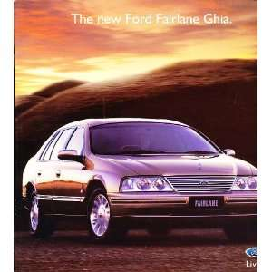 1999 Ford Fairlane Australian Original Sales Brochure
