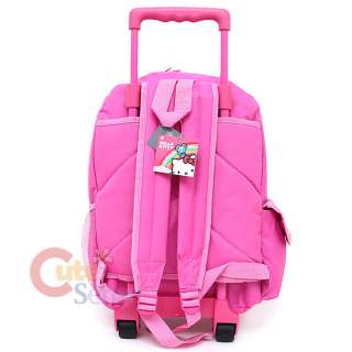 Kitty Large School Roller Backpack Lunch Bag Pink Teddy Bear 4