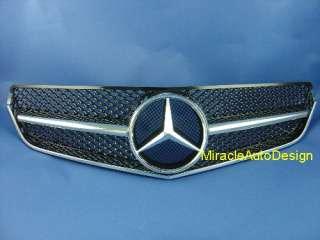 Black Front Grille For 2010 2011 Mercedes Benz W207 E Class Coupe