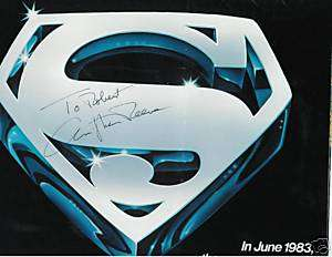 Christopher Reeve signed Emblem Superman III(poster)