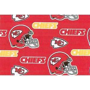 NFL Kansas City Chiefs Football Fleece Fabric Print By the