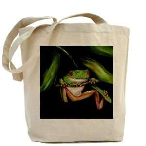 Green Tree Frog Heavyweight Canvas Tote Bag Kitchen