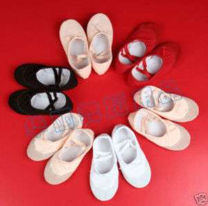 Black Girls Ballet Shoes Dance Slippers U.S. Size 11.5
