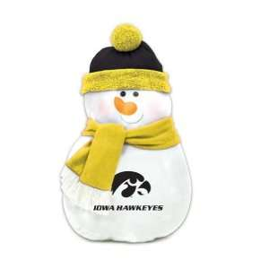 22 NCAA Iowa Hawkeyes Plush Snowman Christmas Throw