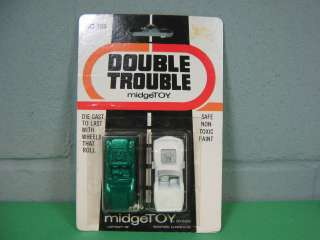 Vintage #355 MidgeToy Double Trouble Die Cast Cars MINT in Package
