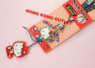 Hello Kitty Cell PHONE LANYARD ID NECK STRAP Sanrio G3a