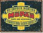 MOPAR PARTS Logo Desoto Plymouth Dodge Dealer Tin Sign
