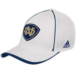adidas Notre Dame Fighting Irish White Youth Coaches Mesh Stretch Hat