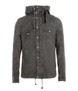 Eastland Hooded Shirt, Men, Shirts, AllSaints Spitalfields