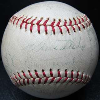 1962 LOS ANGELES DODGERS Team Signed Autographed Ball Baseball PSA/DNA