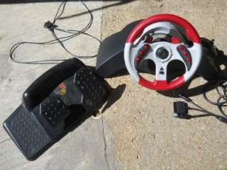 MadCatz MC2 6320 Racing Wheel & Pedals Playstation 1 2 PS1 PS2 Game