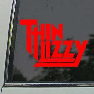 Thin Lizzy Red Decal Rock Band Car Truck Window Red