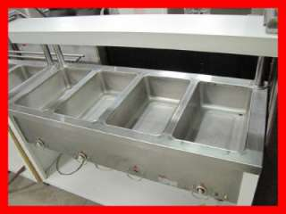 Used Duke 4 Well Commercial Steam Table with Hatco Gloray Warmer NICE