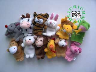 Animals Finger Puppets Baby Story Good Helper 12pcs