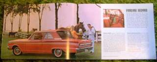 Ford Fairlane Fairlane 500 Fairlane Wagons Sales Brochure 66