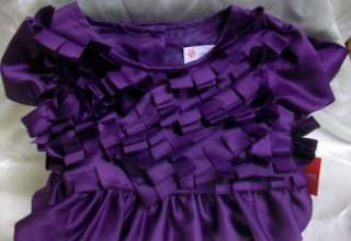 Holiday Editions PURPLE FRINGE PARTY Wedding Dress 12M 24M 2T 3T 4T 5T