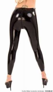 Latex Legging mit Zipper Hose Pants Rubber Gummi S   XXXL von Anita