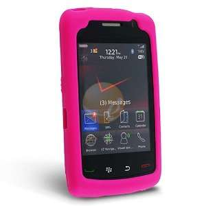 Silicone Skin Case for Blackberry Storm2 9550, Hot Pink
