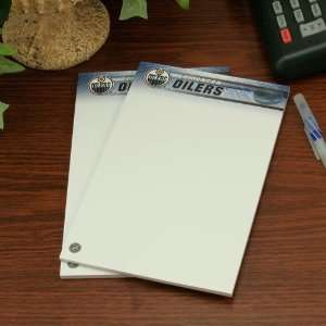 NHL Edmonton Oilers Two Pack 5 x 8 Team Logo Notepads