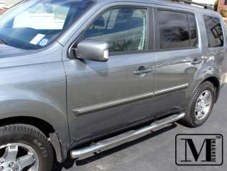 09 11 Honda Pilot Chrome Side Step Nerf Bars