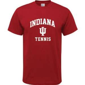Indiana Hoosiers Cardinal Red Youth Tennis Arch T Shirt
