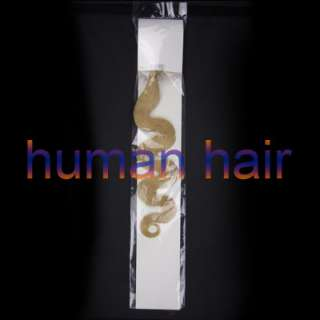 100s 20 remy loop/micro rings Wavy Human Hair #1B