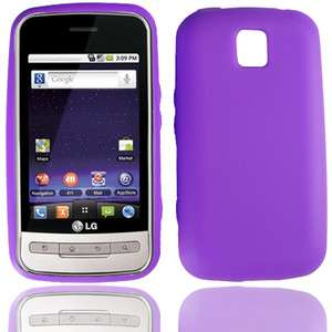 NET10 LG Optimus Net ANDROID HIGH QUALITY PURPLE SILICONE CASE