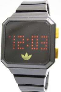 New Adidas Peachtree Digital LED Black Rubber band Watch Date ADH4046